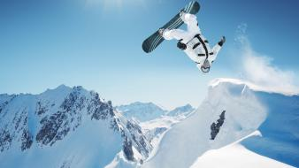 Snow sports snowboarding wallpaper