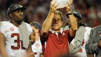 Tide alabama champions trophy 2013 nick saban wallpaper