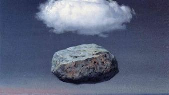 Traditional art 1955 rene magritte belgian sea wallpaper