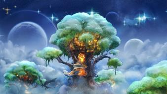 Trees fantasy art artwork wallpaper
