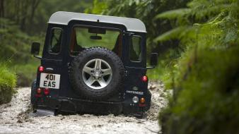 Trucks land rover defender vehicles 4x4 offroad Wallpaper