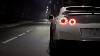 Tuning white tuned taillights nissan gt-r r35 wallpaper