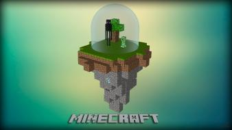 Video games creeper minecraft cinema 4d enderman photomanipulation wallpaper