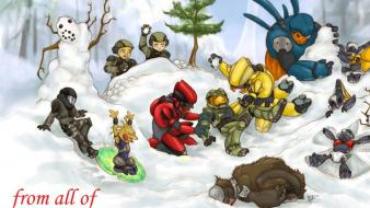 Video games halo christmas babies wallpaper