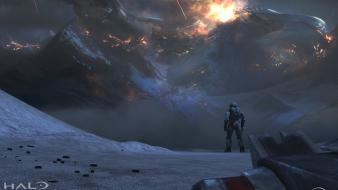 Video games spartan crash halo reach wallpaper