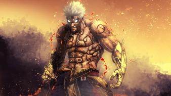 War god sparks artwork angry asuras wrath wallpaper