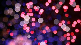 Abstract bokeh dots wallpaper