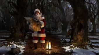 Art characters reindeer white hair squares lantern wallpaper