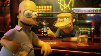 Beers bar homer simpson the simpsons moe szyslak wallpaper