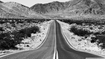 Black and white landscapes nature roads death valley wallpaper