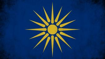 Blue sun gold real greece macedonia greek vergina wallpaper