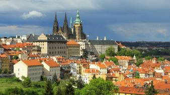 Castles europe prague czech republic wallpaper