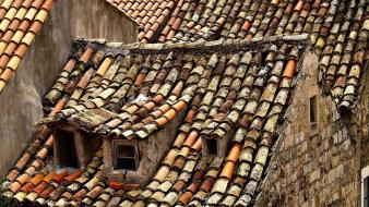 Cityscapes europe croatia dubrovnik old house roofs wallpaper