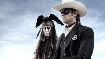 Cowboys johnny depp the lone ranger tonto wallpaper