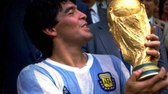 Cup national football team diego maradona kissing wallpaper