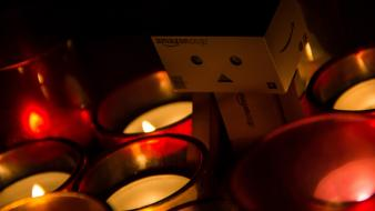 Dark red danboard candles wallpaper