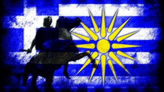 Flags greece macedonia alexander the great wallpaper