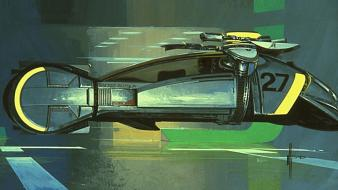 Futuristic artwork syd mead future cars wallpaper