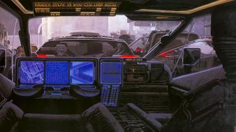Futuristic blade runner artwork syd mead future cars wallpaper