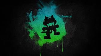 Green blue black music logos simple monstercat electronic wallpaper