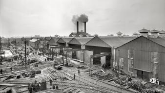 Historical industrial plants factory yard amin peyrovi wallpaper