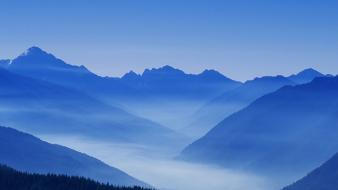 Landscapes nature valley national park washington foggy wallpaper