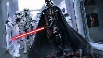 Lightsabers darth vader rebels science fiction artwork wallpaper
