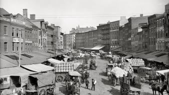 Market buildings usa philadelphia grayscale historical amin peyrovi Wallpaper