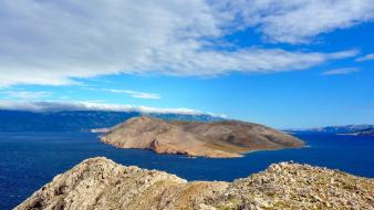 Mountains landscapes nature outdoors islands croatia sea wallpaper