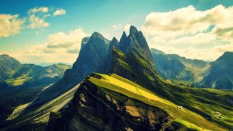 Mountains landscapes peak skies wallpaper