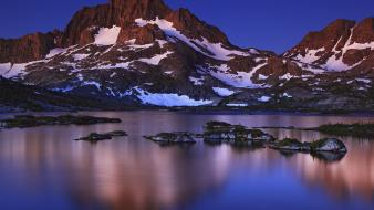 Nature snow dawn peak california banner wallpaper