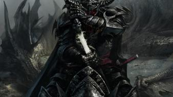 Of the cryptids (conquer) defiled ebony knight wallpaper