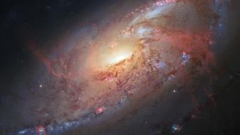 Outer space galaxies hubble m106 wallpaper