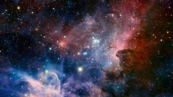Outer space nebulae hdr photography wallpaper