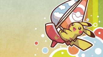 Pokemon video games pikachu surfing pichu wallpaper