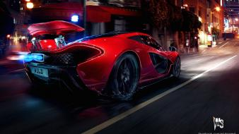 Red concept art mclaren p1 wallpaper