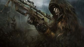 Rifles cheytac intervention ghillie suit face paint wallpaper