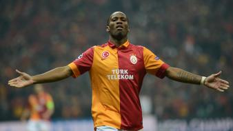 Soccer galatasaray sk didier drogba football player wallpaper