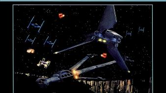 Star wars outer space vintage tie fighters b-wing wallpaper