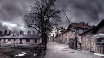Streets concentration camp aushwitz death wallpaper
