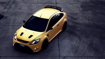 Streets yellow cars ford focus rs wallpaper