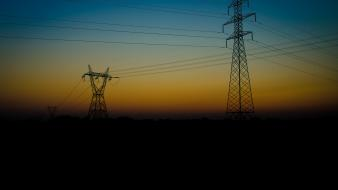 Sunrise power grid Wallpaper