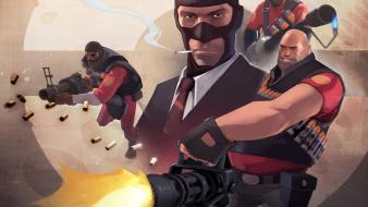 Tf2 pyro spy demoman team fortress 2 wallpaper