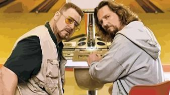 The dude big lebowski jeff bridges john goodman wallpaper