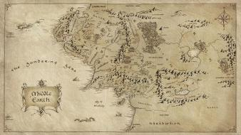 The lord of rings maps middle-earth Wallpaper