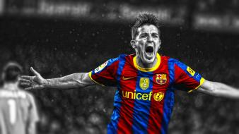 Villa stars cutout football player barcelona fc Wallpaper