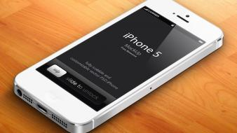 White vector 3d iphone 5 free Wallpaper