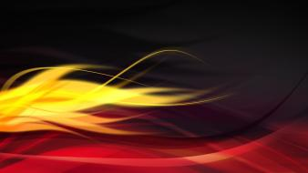 Abstract black digital art graphic red flame wallpaper