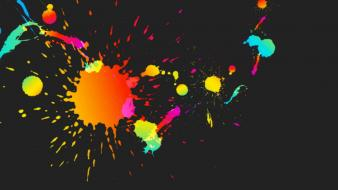 Abstract multicolor dots wallpaper