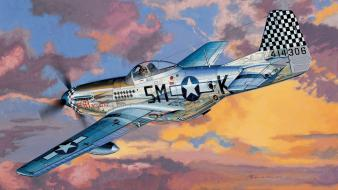 Aircraft military artwork p51 mustang wallpaper